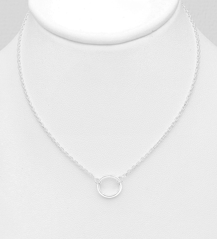 706-25725 - 925 Sterling Silver Circle Necklace