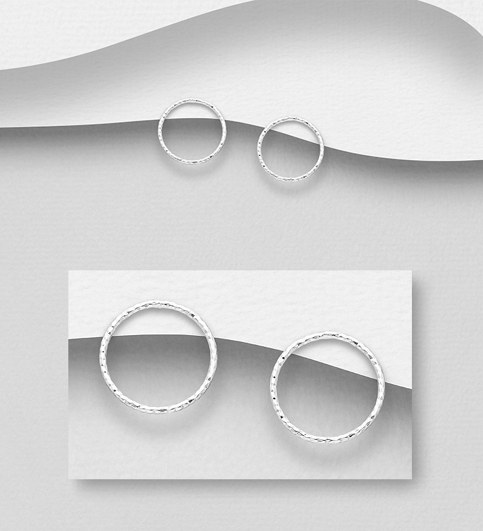 706-25887 - 925 Sterling Silver Circle Earrings