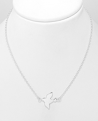 706-26396 - 925 Sterling Silver Flying Bird Necklace