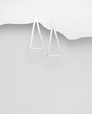 706-27565 - 925 Sterling Silver Triangle Push-Back Earrings