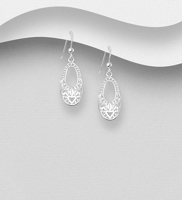 706-28213 - 925 Sterling Silver Hook Earrings