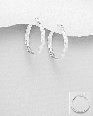 706-28735 - 925 Sterling Silver Hoop Earrings