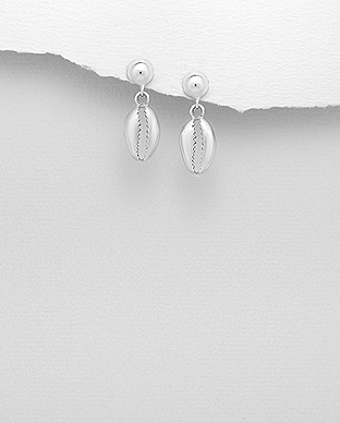 706-29112 - 925 Sterling Silver Shell Push-Back Earrings