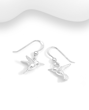 706-29778 - 925 Sterling Silver Bird Hook Earrings
