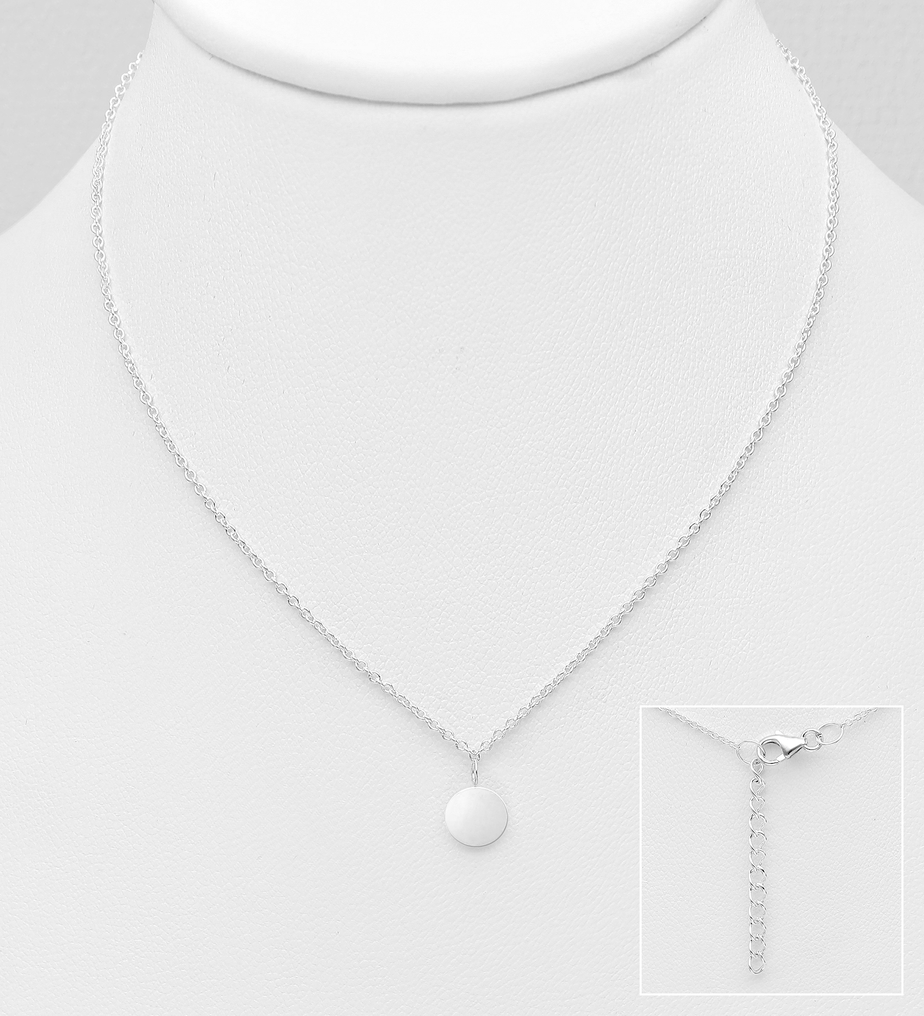 706-31043 - 925 Sterling Silver Necklace Featuring Circle Pendant