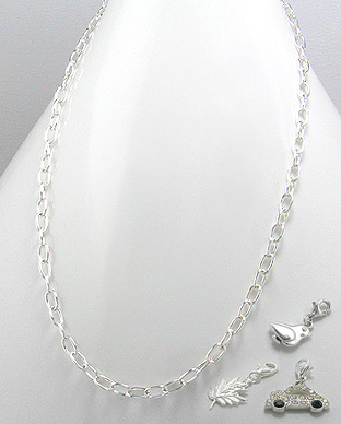 706-5053 - 925 Sterling Silver Chain to which locker-charms can be added