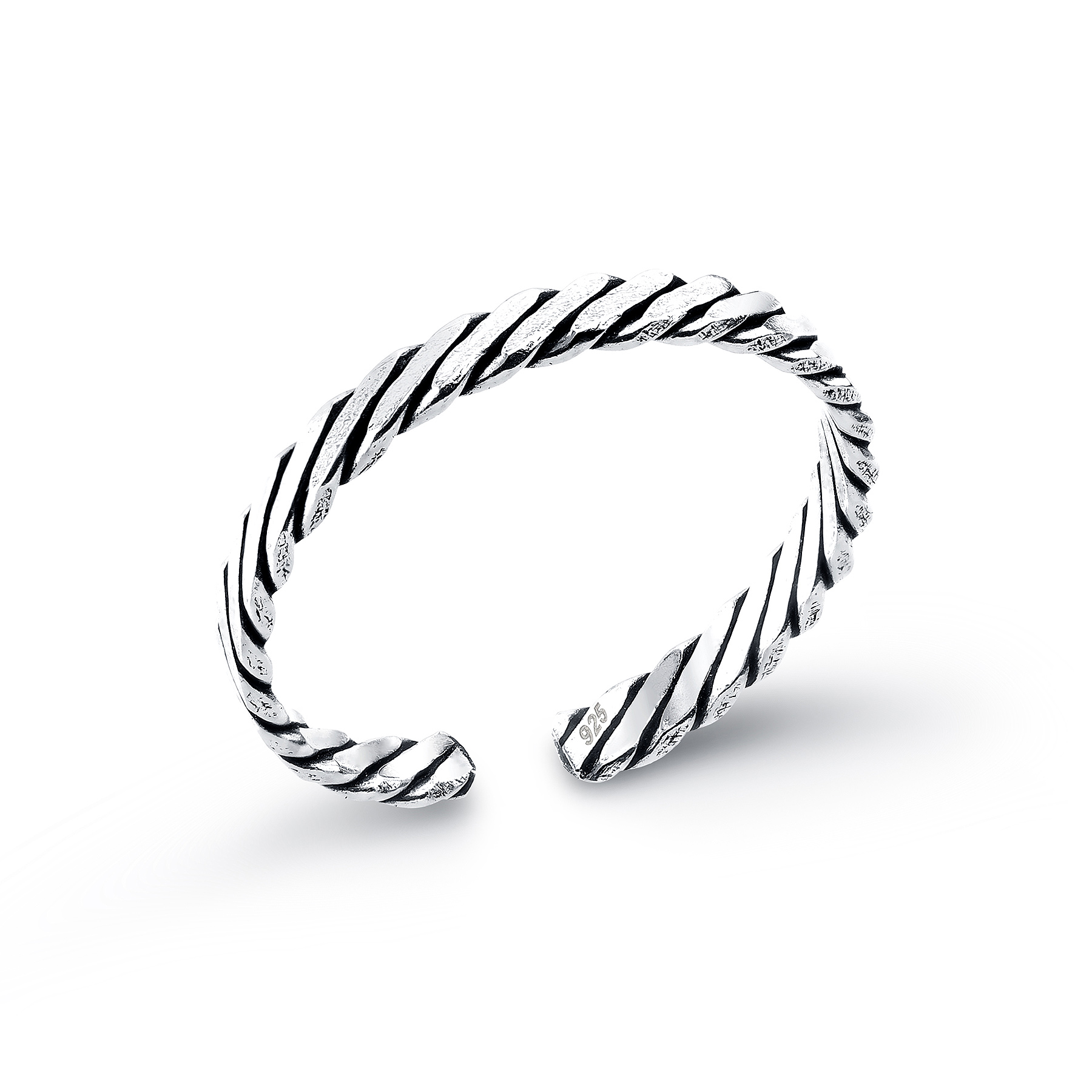792-906 - 925 Sterling Silver Oxidized Toe Ring